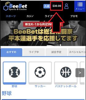 BeeBetカジノの登録ボーナスの画像